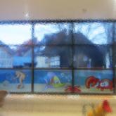 Fensterbeschriftung - Sichtschutz im Schwimmbad