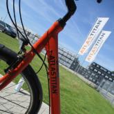 Beschriftung Fahrrad  mit Logoaufkleber im Folienschnitt