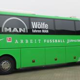 Vereinsbus Teilfoliert und Beschriftet