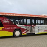 Bus Vollfolierung im Digitaldruck mit Lochfolie