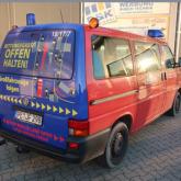 Heckfolierung Warnhinweis Feuerwehr