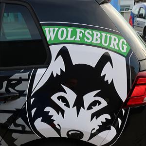 individuelle Teilfolierung und Fahrzeugbeschriftung - Logo