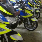 Warnmarkierung Polizei Motorrad-Flotte