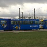 Vollfolierung Straßenbahn im Digitaldruck